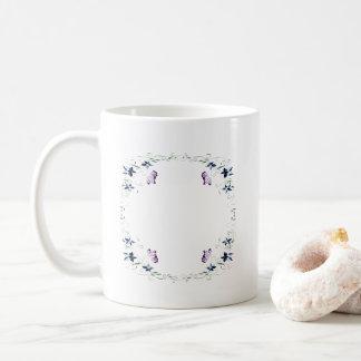 kvadrera fjärilen kaffemugg