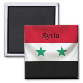 Kvadrera flagga av Syrien, den draperade ceremonie