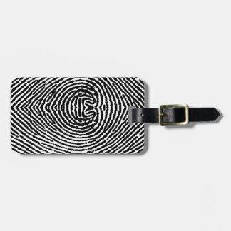 Kvadrera folk identifierar med fingeravtryck luggage tags