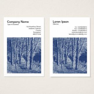 Kvadrera fotoet (v3) - träd vid en flod - visitkort