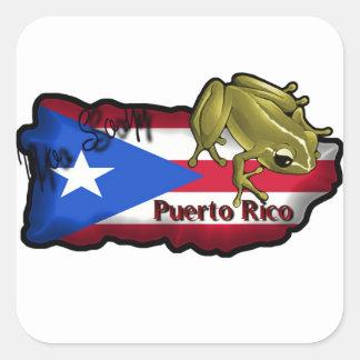 Kvadrera klistermärkeYo Soy Puerto Rico Fyrkantigt Klistermärke
