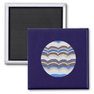 Kvadrera magneten med blåttmosaiken