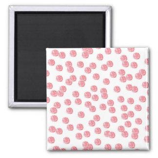 Kvadrera magneten med röd polka dots magnet