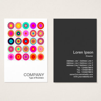 Kvadrera Mandalas för foto 091 - 25 färgrika Visitkort