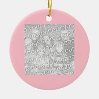 Kvadrera rosagränsfotoet julgransprydnad keramik