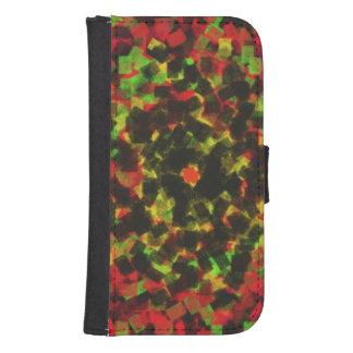 kvadrera snyltar mönster plånboksfodral