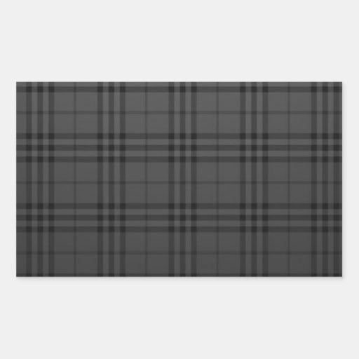 Kvadrera tyg rektangelformat klistermärke