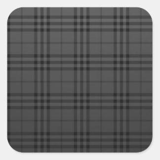 Kvadrera tyg fyrkantigt klistermärke