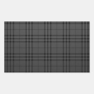 Kvadrera tyg rektangulärt klistermärke