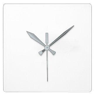Kvadrera väggen tar tid på - grå färghänder fyrkantig klocka