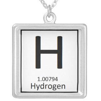 Kvadrera vätehalsbandet silverpläterat halsband