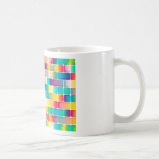 Kvadrerar bakgrund kaffemugg