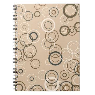 Kvadrerar den Retro popet för vintage abstrakt kon Anteckningsbok Med Spiral
