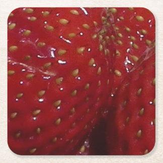 Kvadrerar den Themed anpassningsbar för jordgubben Underlägg Papper Kvadrat