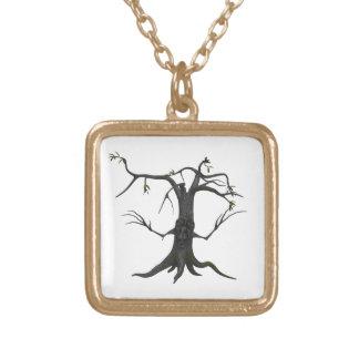 Kvadrerar guld- fullföljande för läskigt träd guldpläterat halsband