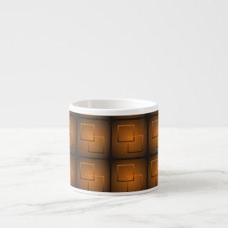 Kvadrerar i en kvadrera espressomugg