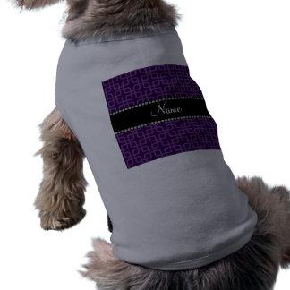 Kvadrerar känt purpurfärgat retro för personlig långärmad hundtöja