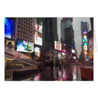 Kvadrerar regniga dagtider för NYC New York City Hälsningskort