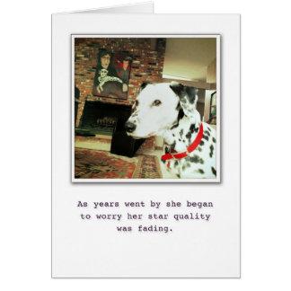 Kvalitets- stjärna (tomt) hälsningskort