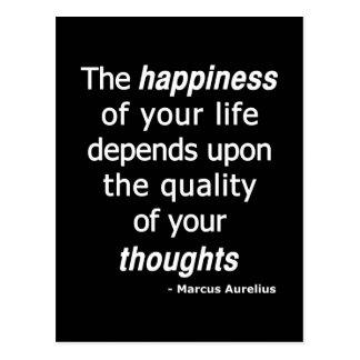 Kvalitets- tankar? Därefter ett lyckligt liv… Vykort