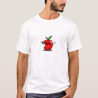 Kväll och äpplet t shirts