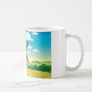 Kvarn landskap kaffemugg