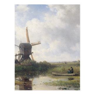 Kvarn landskap - Willem Roelofs Vykort