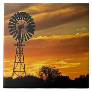 Kvarn och solnedgång, William bäck, Oodnadatta Kakelplatta