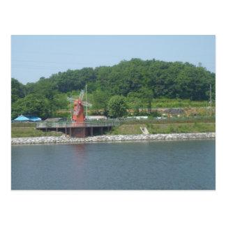 Kvarn på en sjö i Korea Vykort