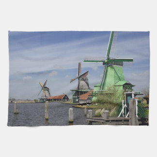 Kvarn Zaanse Schans, Holland, Nederländerna 2 Kökshandduk