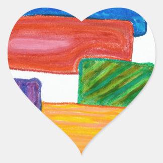 kvarter 3D Hjärtformat Klistermärke