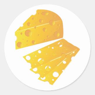 Kvarter av ostklistermärkear runt klistermärke