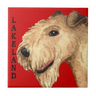Kvarter för färg för Lakeland Terrier Kakelplatta