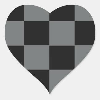 Kvarter för funkygråttsvart hjärtformat klistermärke
