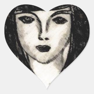 kvarter hjärtformat klistermärke