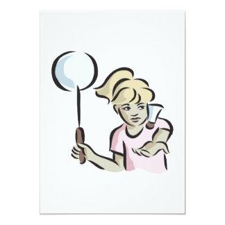 Kvinna Badminton 2 12,7 X 17,8 Cm Inbjudningskort