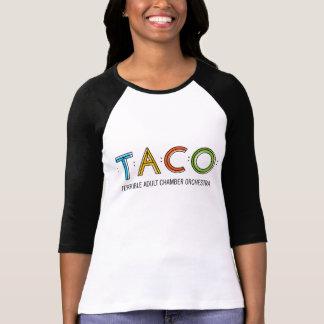 Kvinna Bella 3/4 sleeveTACOT-tröja, vit/svart T-shirts