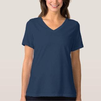 Kvinna Bella+Avkopplad färdig V-Nacke för kanfas T-shirts