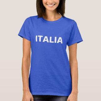 Kvinna blått och vit ITALIA Tee Shirts