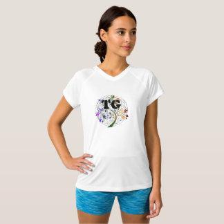 Kvinna blomma för TG för aktivDri skjorta av den Tshirts