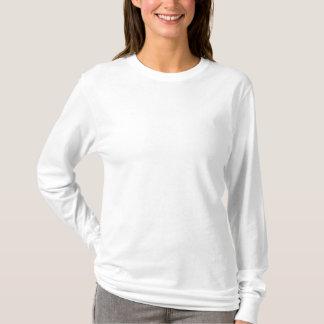 Kvinna broderad långärmadT-tröja