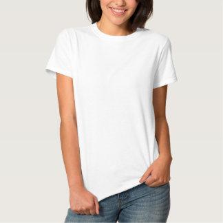 Kvinna broderade grundläggande T-tröja Broderad Pikétröja