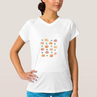 Kvinna dubbla-torra T-tröja med pumpor Tshirts