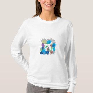 Kvinna flygplanHoodie T-shirts