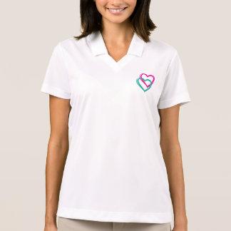 """Kvinna """"för 2 hjärtor"""" skjorta för Polo för Nike Pikétröja"""