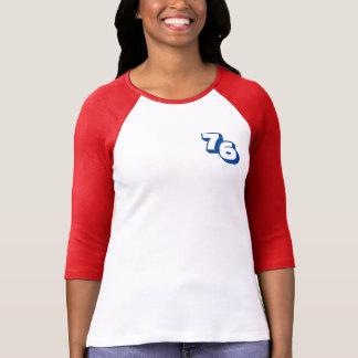Kvinna för år 1976 röd T-tröja för Raglan T Shirts