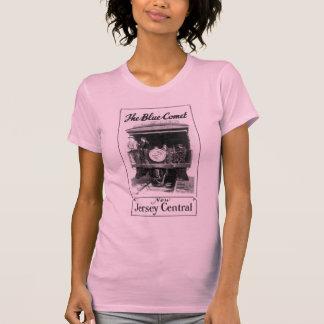 Kvinna för blåttkomettåg Racerback T-tröja T-shirt
