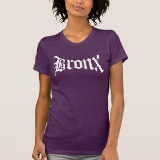 Kvinna för Bronx New York vintagetext t-skjorta Tee