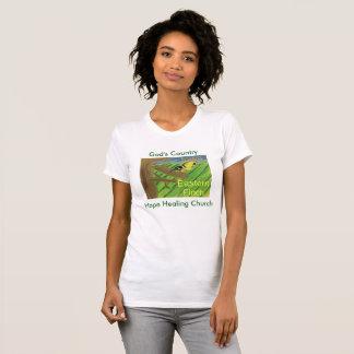 Kvinna för Finch Iowa för statlig fågel östliga T-shirt
