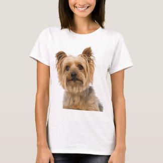 Kvinna för hund för valp för Yorkshire Terrier T-shirt